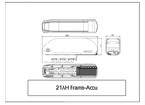 Voorwielmotor Ombouwset LCD display frame accu_