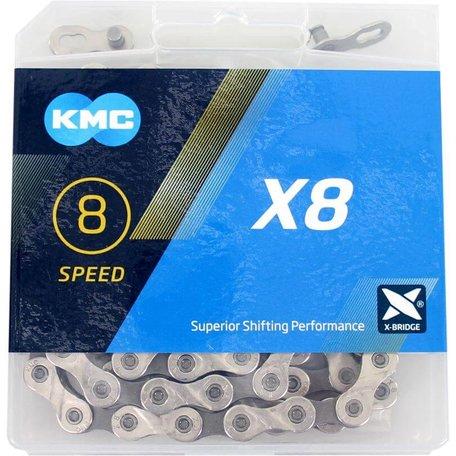 KMC Ketting X8 Silver/Grey