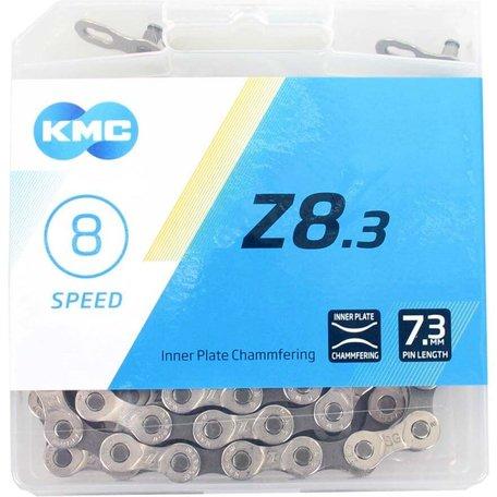 KMC ketting Z8 silver/grey 114s