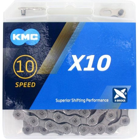 KMC ketting X10 grey 114s