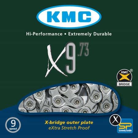 KMC X9-73 9 speed Ketting Grijs