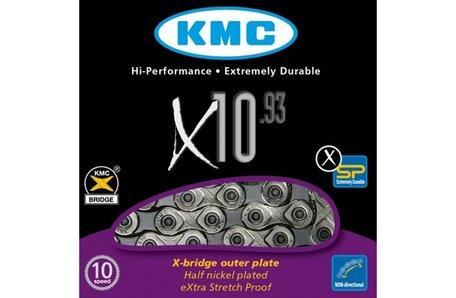 KMC ketting X10 93 zilver/grijs XSP eXtreme Strech Proof