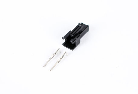 2 Pin Male black Plastic connector
