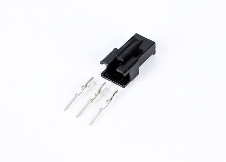 3 Pin Male black Plastic connector