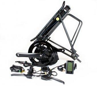 Middenmotor ombouwset Bafang BBS01 250W met bagagedrager accu